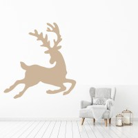Leaping Deer Silhouette Reindeer Wild Animals Wall Sticker ...