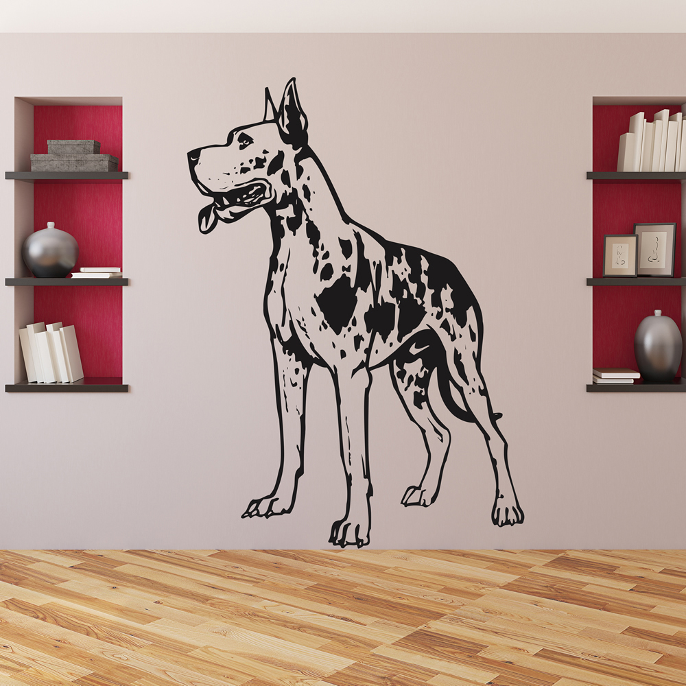 Great Dane Canine Sketch Pets Dogs Wall Stickers Home Decor Art