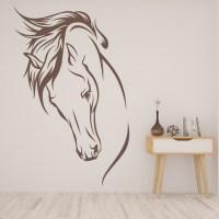 Horses Head Wild Mane Farmyard Animals Wall Stickers Home ...