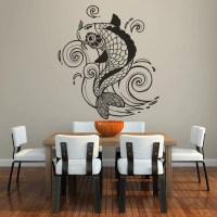 Koi Carp Detailed Fish Wall Decal Art Wall Stickers | eBay
