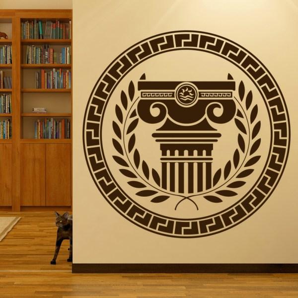 Greek Badge Greece Statue Rest Of World Wall Stickers