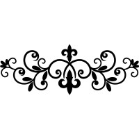 Fleur De Lis Wrought Iron Floral Design Wall Stickers Home ...