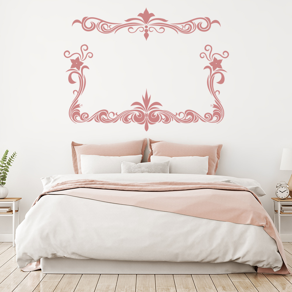 Floral Border Decorative Frame Wall Stickers Home Border