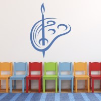 Brush And Pallet Art Paint Educational Wall Stickers ...