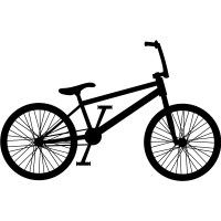 BMX Bike Silhouette Bike BMX & Cycling Wall Stickers Sport ...