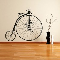 Old Fashion Bicycle Wall Art Sticker Wall Decal | eBay