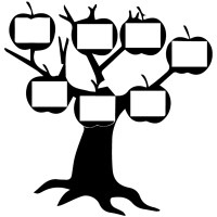 Apple Silhouette Family Tree Wall Sticker Family Wall