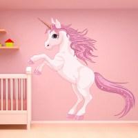 Unicorn Wall Sticker Fantasy Fairy Tale Wall Decal Girls