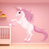Unicorn Wall Sticker Fantasy Fairy Tale Wall Decal Girls ...