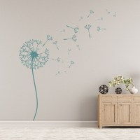 Dandelion Wall Sticker Floral Flower Wall Decal Living ...