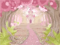 Princess Castle In Enchanted Wood Fairytale Wall Mural ...