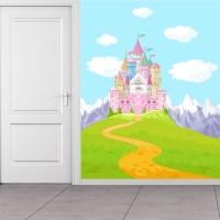 Pink Princess Castle Wall Mural Fairytale & Fantasy Photo ...
