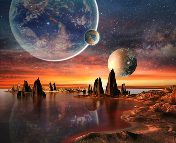 alien landscape wall mural wallpaper