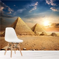 Egyptian Pyramids At Sunset Landmarks Wall Mural Landscape ...