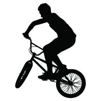 BMX Bike And Rider BMX And Cycling Wall Stickers Sports ...