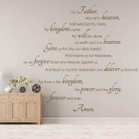 The Lords Prayer Wall Sticker Chritianity Wall Decal ...