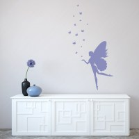 Fantasy Fairy Wall Sticker Butterfly Wall Decal Girls ...