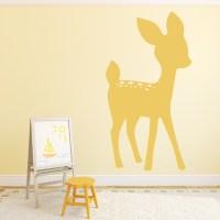 Deer Wall Sticker Bambi Wall Decal Girls Room Nursery Home