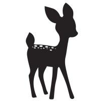 Deer Wall Sticker Bambi Wall Decal Girls Room Nursery Home ...