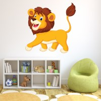 Fun Lion Wall Sticker Safari Animal Wall Decal Kids ...