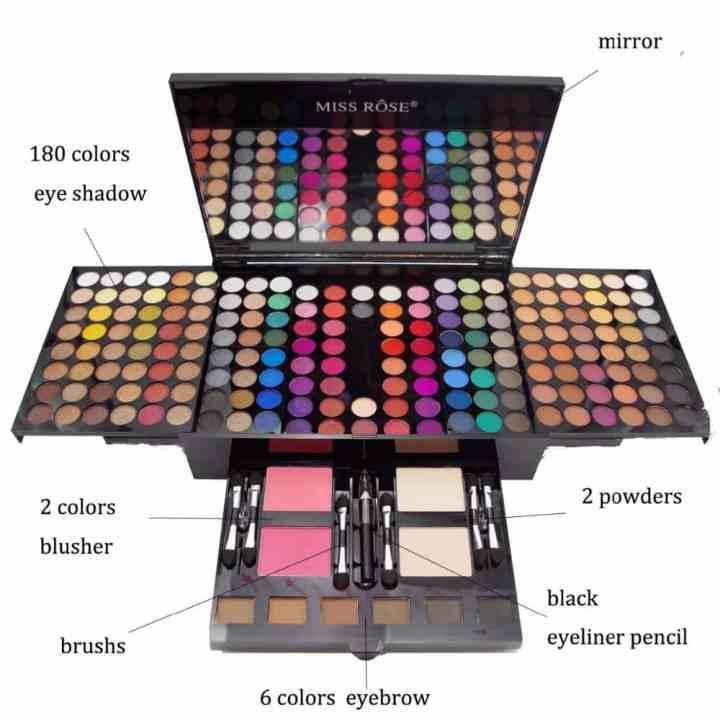Professional Full Makeup Kafa Kit Cosmetic Kawo Case Travel Da Mirror