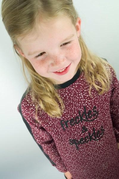 semper sweater elvelyckan design jurk sweatjurk sierband naaien meisje