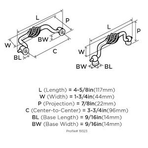 Amerock Decorative Cabinet and Bath Hardware|Free Shipping