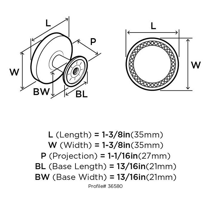 Amerock Decorative Cabinet and Bath Hardware: BP36580ORB