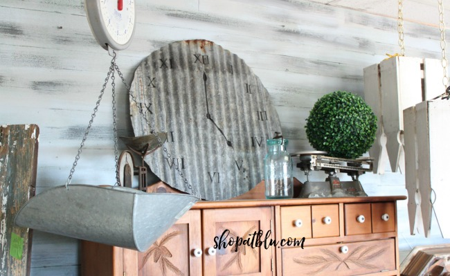 Salvaged Metal Clock