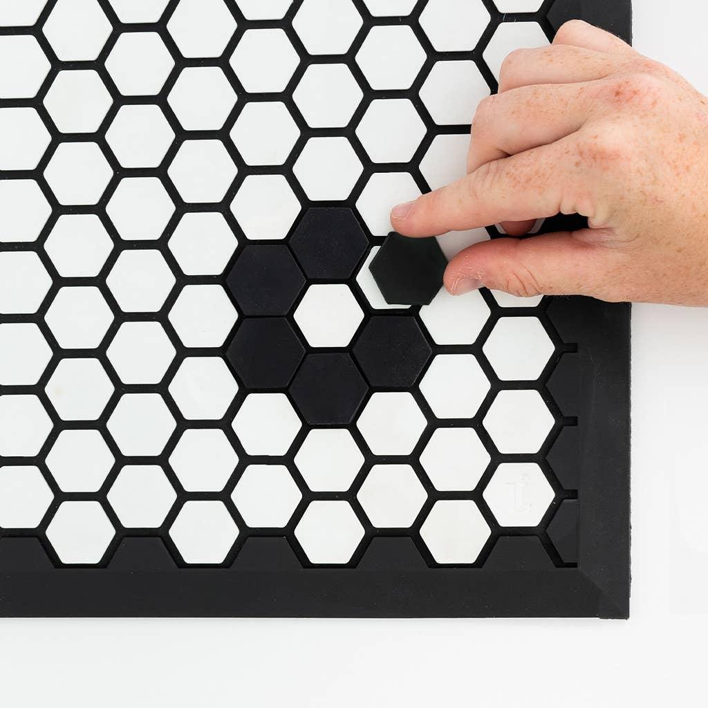 hexagon silicone tiles for tile mat door mat by letterfolk