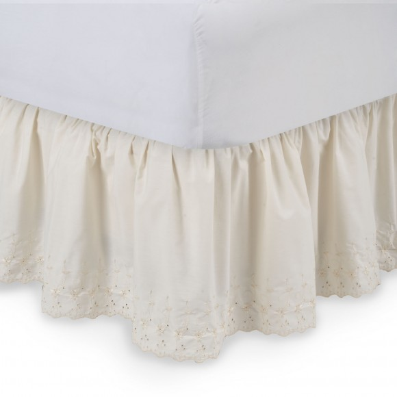 Eyelet Ruffled Bed Skirt  ShopBeddingcom