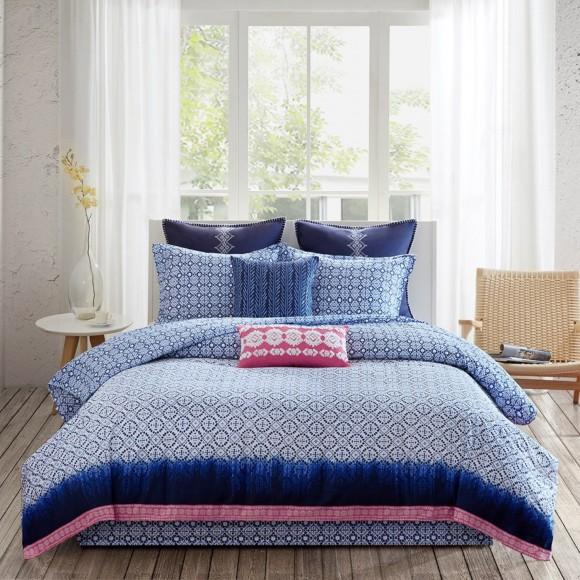 elegant kitchen curtains valances pendant light echo design shibori reversible comforter set | shopbedding.com