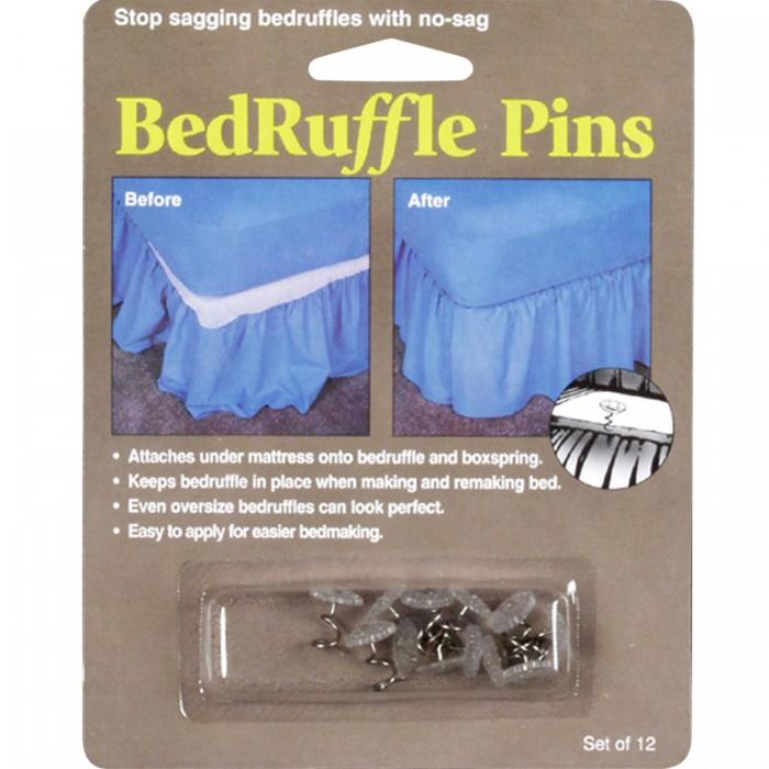 Bed Skirt Pins Set of 12  ShopBeddingcom