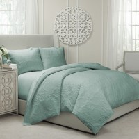 Vue Barcelona Quilted Coverlet and Duvet Ensemble ...
