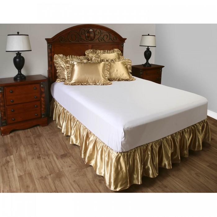 valances for kitchen blue cabinet knobs satin ruffled pillow sham | shopbedding.com