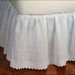 Kitchen Window Curtain Panels Copper Accessories Victorian Eyelet Ruffled Bed Skirt   Shopbedding.com