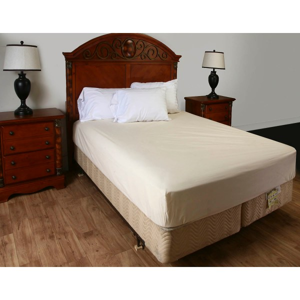 Unbleached 100 Cotton Fitted Mattress Cover