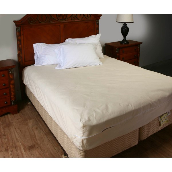 Unbleached 100 Cotton Mattress Cover With Zipper