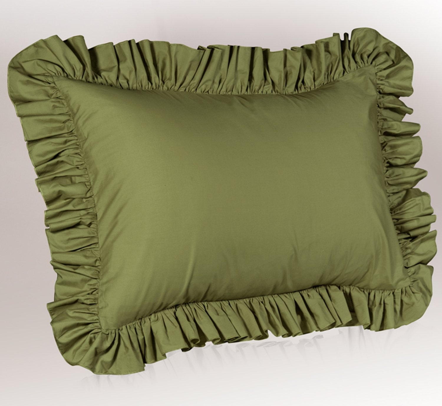 Solid Ruffled Pillow Sham
