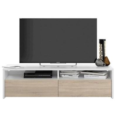 MOBILE TV KIOTO 36X130X42 BIANCO ARTIK/ROVERE CANA