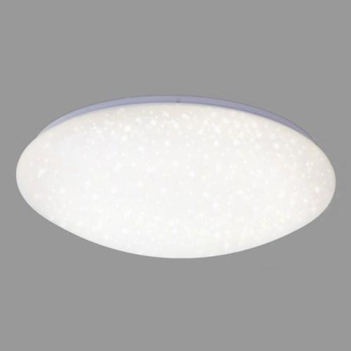 PLAFONIERA DIAM. 49 CM 1 LED 24 WATT 2400 LUMEN 4000K -PLASTICA BIANCA EFFETTO CIELO STELLATO
