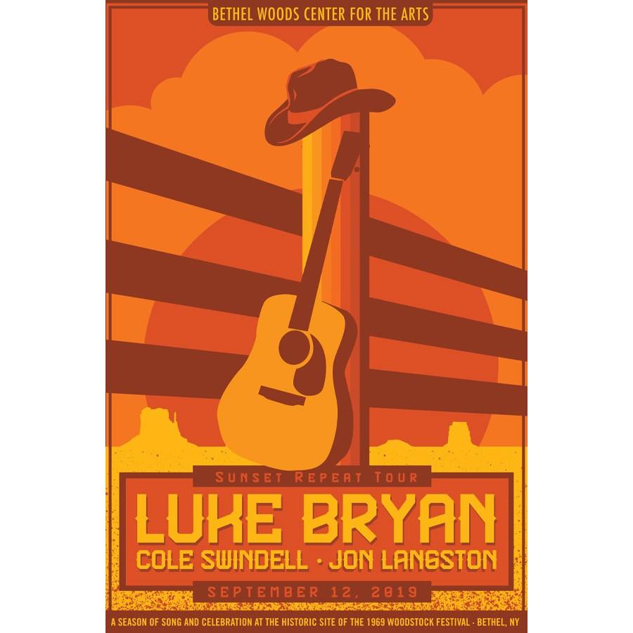 luke bryan concert poster 2019 the