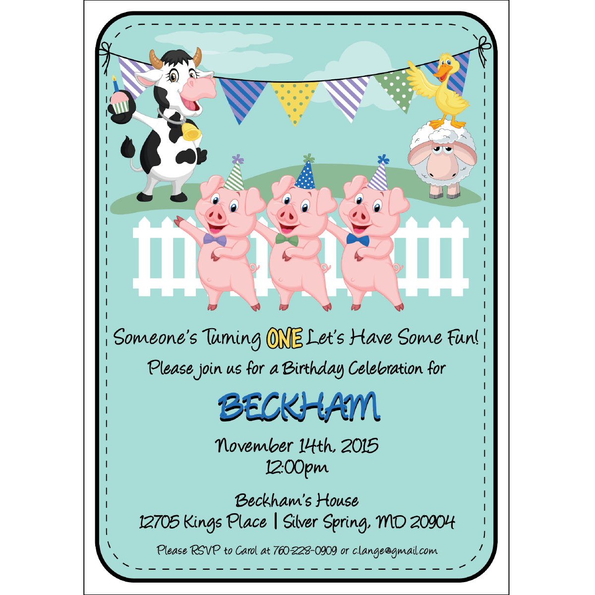 barnyard birthday invitations blackline
