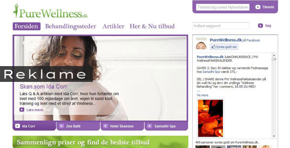 PueWellness er et site, der giver dig overblik over tilbud på behandlinger i din by.