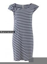 Fair trade kjole med striber i farverne navy/hvid.100 % Økologisk bomuld.