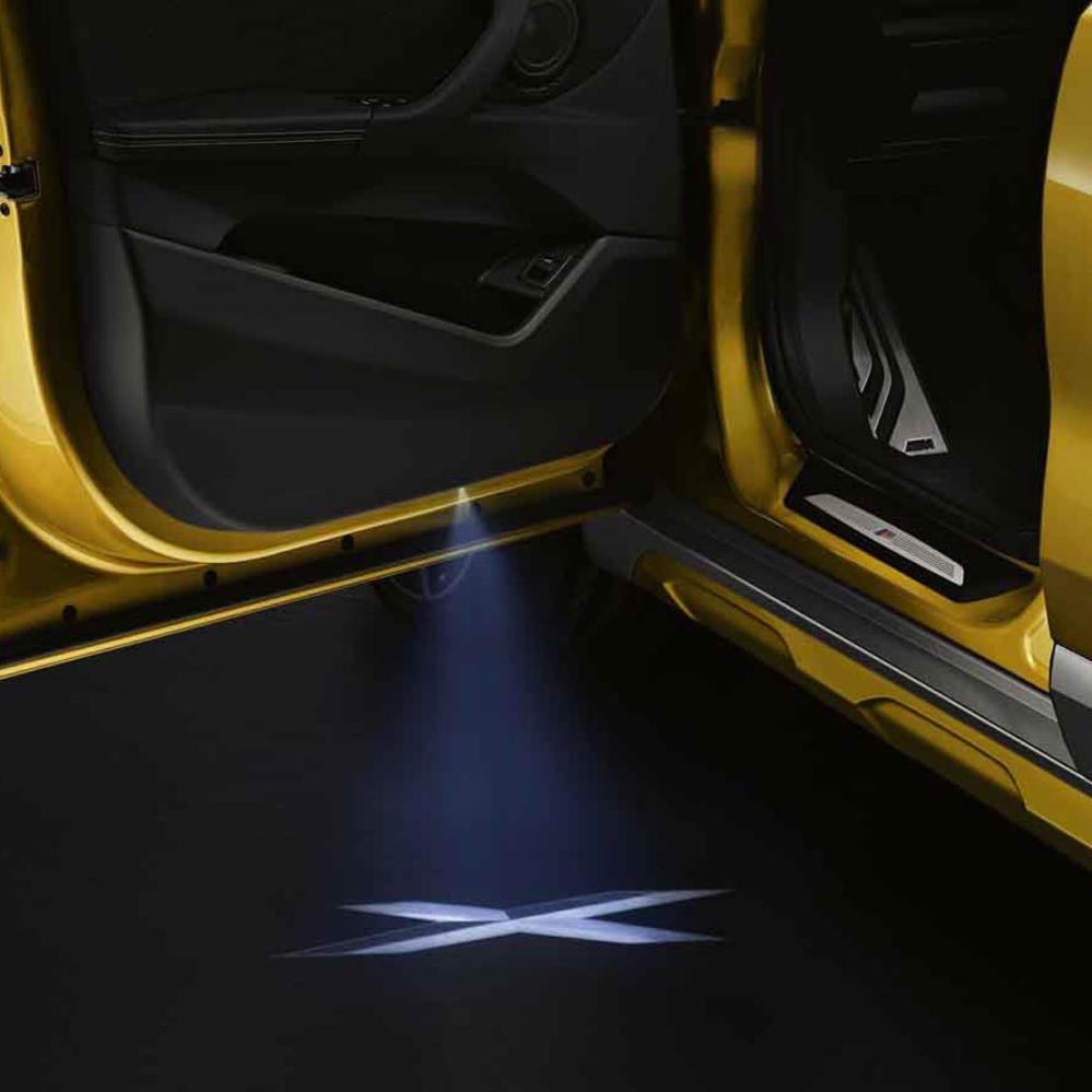 medium resolution of bmw led door light projectors