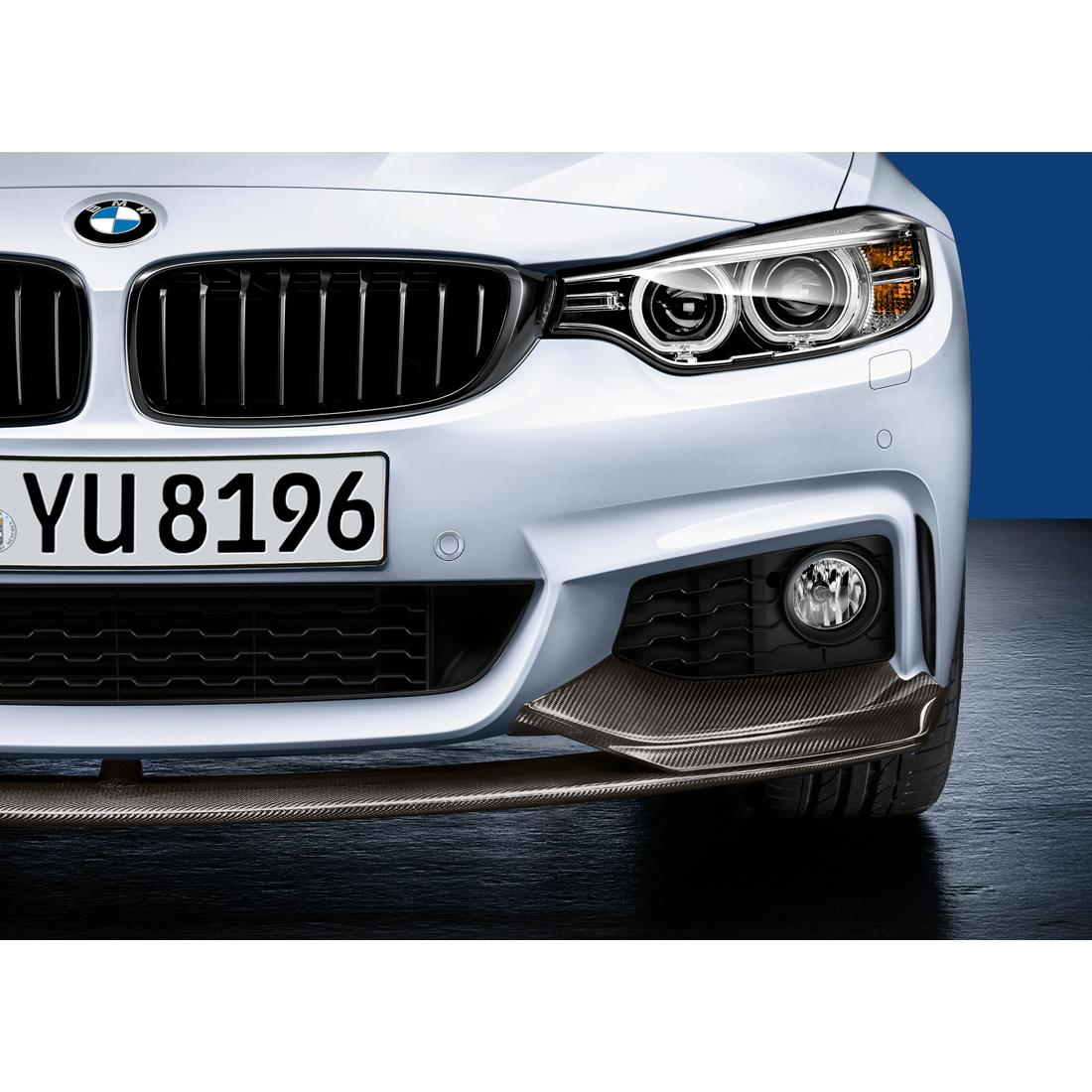hight resolution of bmw m performance carbon fiber front splitter