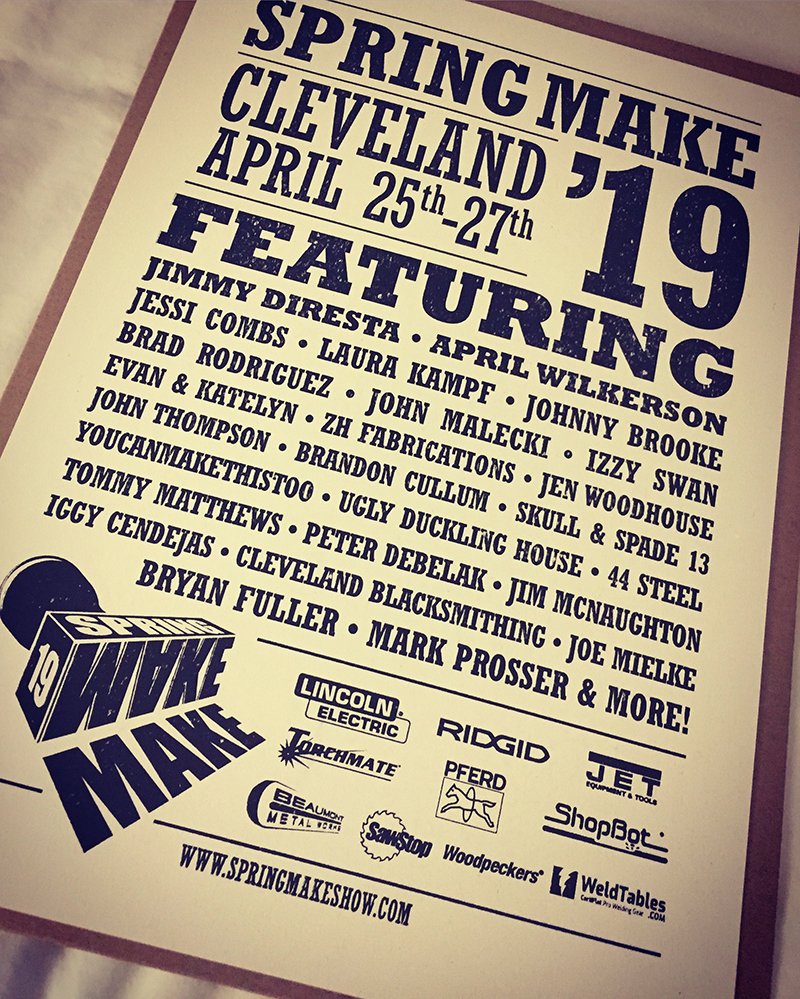 hight resolution of hone your craft build your brand this was the idea behind spring make 19 in cleveland ohio april 25th 27th as a first time sponsor of the event