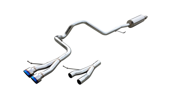 cnt racing hyundai veloster turbo catback exhaust with blue