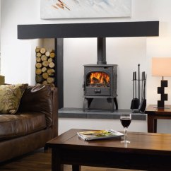 Living Room With Log Burner Wood Accent Wall Dovre 250 4 9kw Stove Multi Fuel Burning Versions